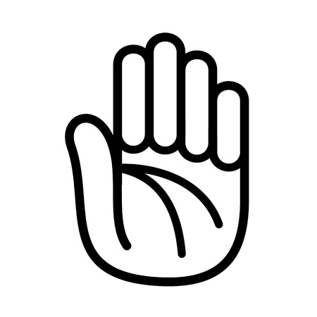 Palm of a hand icon.
