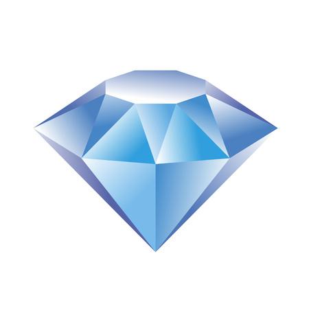 A vector illustration of diamond for print or web design. Illustration
