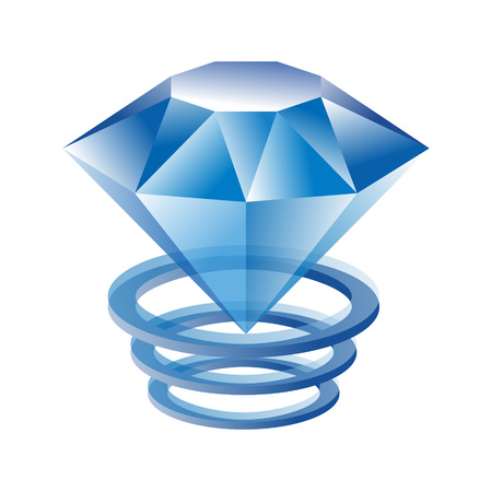 A vector illustration of diamond rings for print or web design.