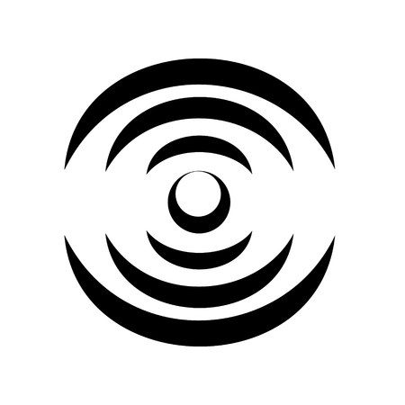 Microwave round icon. Simple style vector illustration of mMicrowave conditional image. Household appliance electronic bake icon for web or print design. Illustration