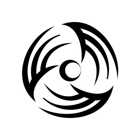 Conditioning and ventilation round logotype icon. Simple style vector illustration of cool condition or ventilation fan image. Household appliance of air circulation icon for web or print design.