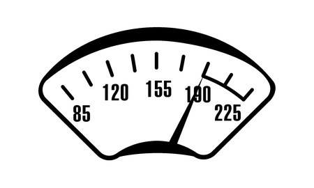 Vehicle scale vector illustration. Speed Car device. Isolated picture for web or print design.