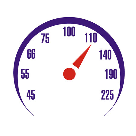 Speedometer scale vector illustration. Speed car device. Isolated picture for web or print design.
