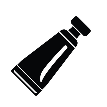 Tube container for cream icon, simple style Illustration