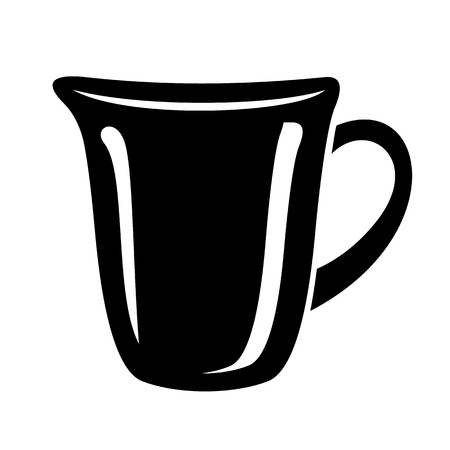 Jug for milk or water canister. Simple icon of pitcher logotype vector illustration for web or print design.  イラスト・ベクター素材