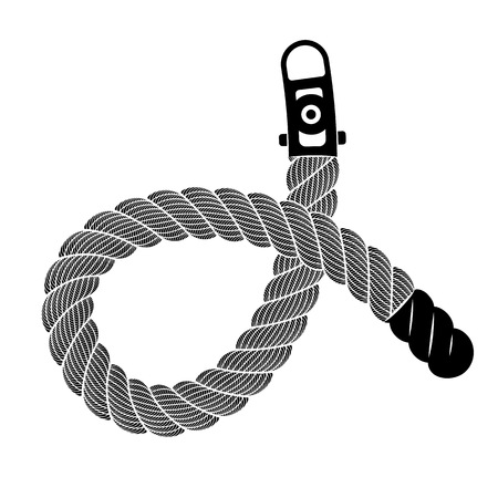 Rope realistic weaving knot loop. Simple illustration of rope realistic detailed weaving knot loop isolated on white vector for web or print design 向量圖像
