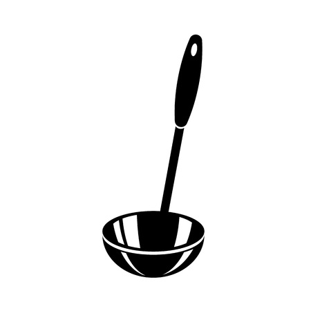 Kitchen ladle soup cook icon. Simple illustration of kitchen ladle soup cook vector icon for web