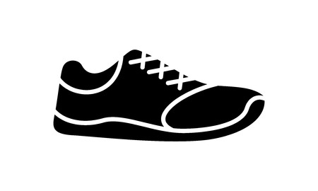 Running shoes icon fitness. Simple style sneaker. 矢量图像
