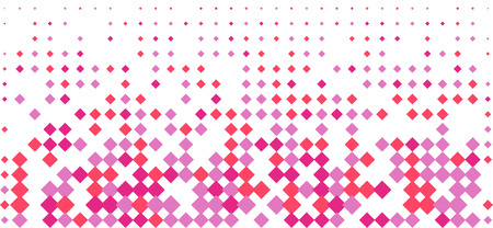 Coral purple particle gradient backgroud border way stars. Endings way rhombus form. Vector illustration for web or print design.