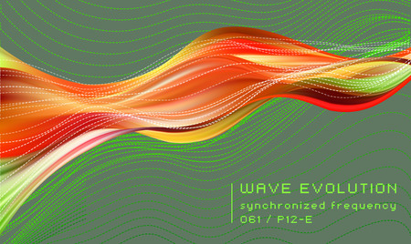 3D colored abstract twisted fluide shape on dark background. Trendy liquid design. Flow shapes stream paint. Deep analysis brushstroke colorful banner. Vector illustration realistic dye mesh grid. Ilustração