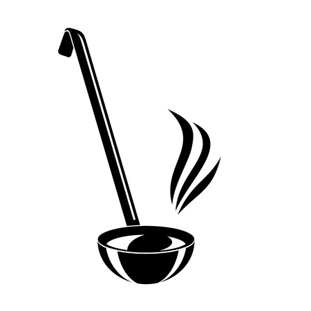 Kitchen ladle soup smole cook icon. Simple illustration of kitchen ladle soup smole cook vector icon for web