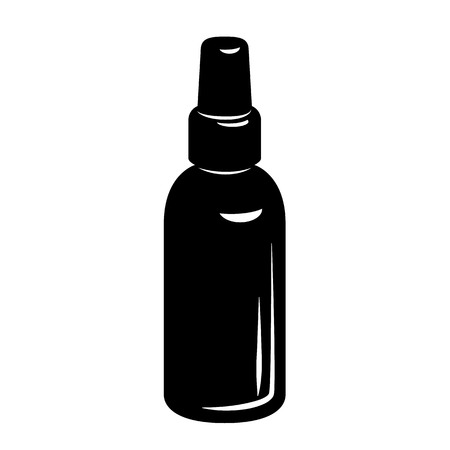 Bottle of medicine with cap simple style icon. Vector illustration of vessel for liquid.