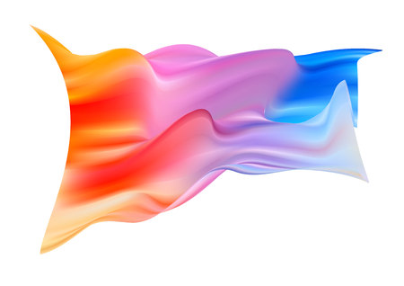 Colorful flag drawn by hand with brush. Sketch watercolor paint. Isolated vector Illustration.