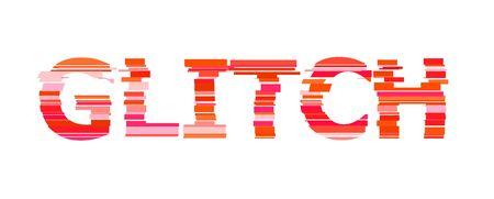 Glitched Triangle Frame Design. Distorted Glitch Style Modern Background. Glow Design for Graphic Design - Banner, Poster, Flyer, Brochure, Card. Vector Illustration.  イラスト・ベクター素材