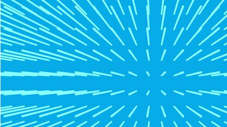 Magnetic Field. Line volume from center on blue background vector illustration. 일러스트