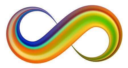 Infinity symbol. Coloful brush stroke Vector sign. Vecteurs