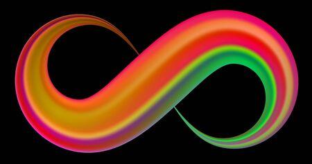 Infinity symbol. Coloful brush stroke Vector sign.