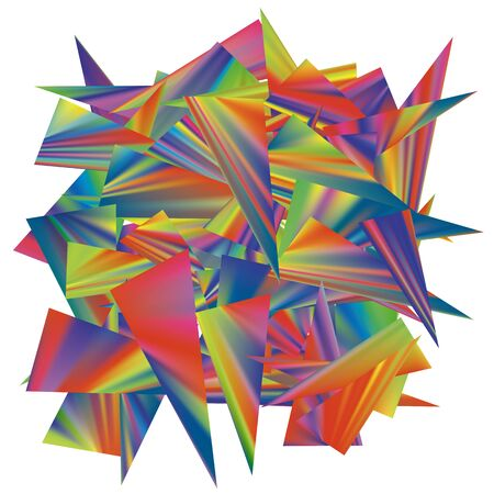 Triangles shards colorful gradients Abstract vector background.