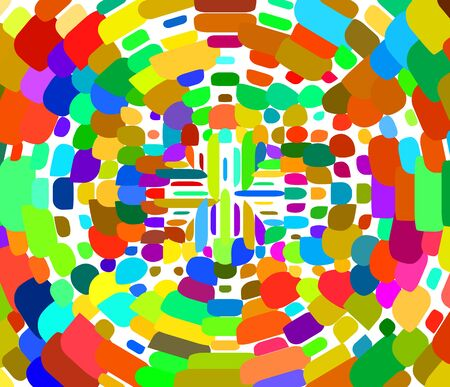 Geometric colorful pattern tile top spiral funnel Abstract geometric pattern from color rectangles. Vettoriali