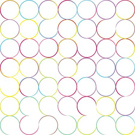 Seamless geometric color circle pattern. Camouflage tiles with rounded lines. Colorful summer background for print or web design. Ilustrace