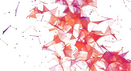Triangles blood texture dots red background. Vector illustration for my design. Vettoriali
