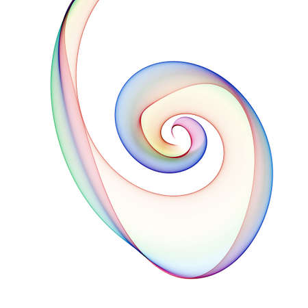 hypnotizing: color spiral Stock Photo