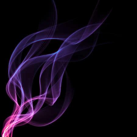 light trails: purple smoke Stock Photo