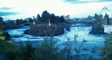 riverfront: riverfront partk in spokane wa  Stock Photo