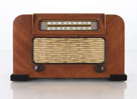 Vintage Tube Radio Stock fotó