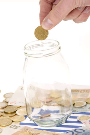 greek currency: Man Stock Photo