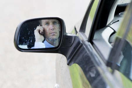 rear view mirror: Car