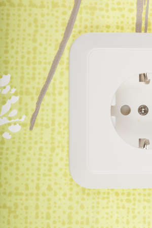 Cropped image of white outlet