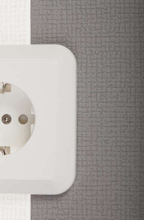 Cropped image of outlet Stock Photo
