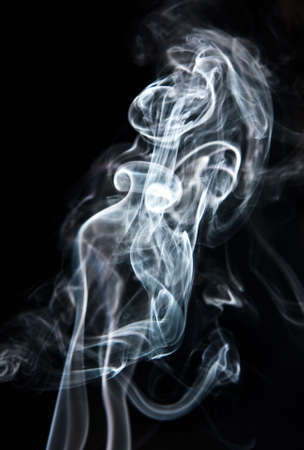Lady in the smoke, its a illusion. photo
