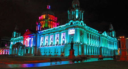 Belfast city hall by night Stock Photo - 96951515