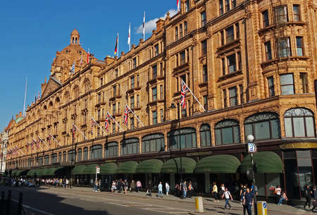 Harrods, Knights bridge, London. Editorial