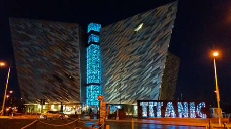 Titanic Museum in Belfast at Night