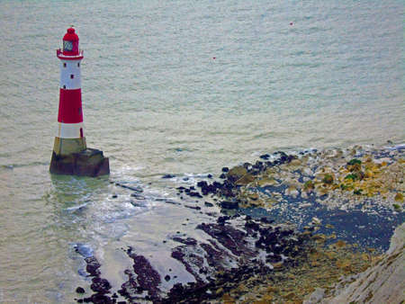 The Lighthouse and Rocky shore at Beachy Head