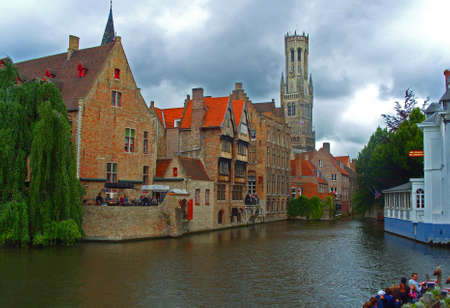 A canal in Bruges Editorial