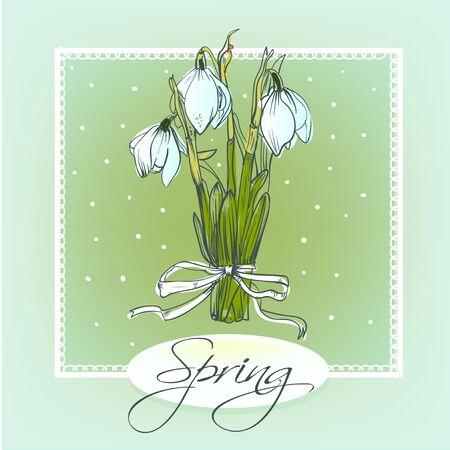 jardines con flores: ciclamen Flores ramo. Dibujado a mano ilustraci�n vectorial. Vectores