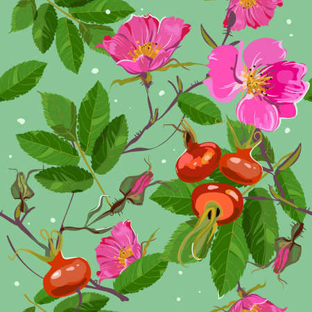 briar: briar seamless summer colorful pattern Illustration