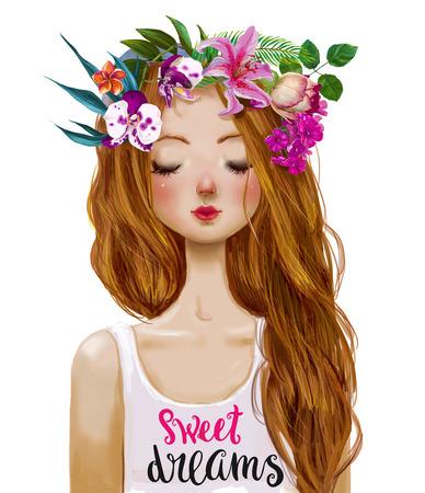 beautiful summer young woman 写真素材