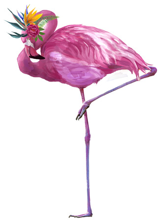 pink glamour flamingo