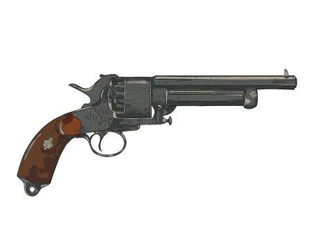 revolver, gun, pistol