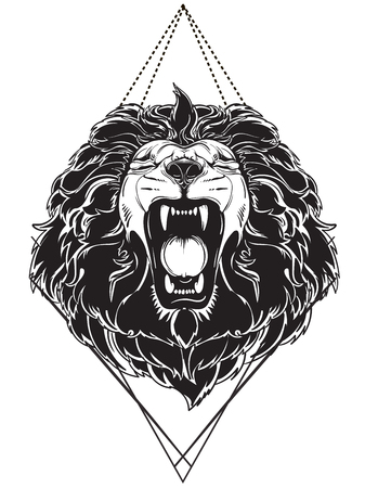 León cabeza tatuaje