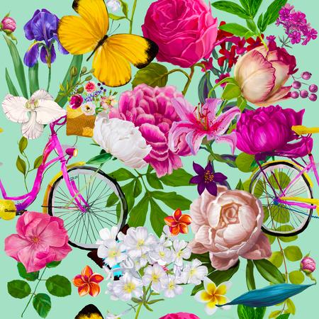 seamless floral fashion pattern