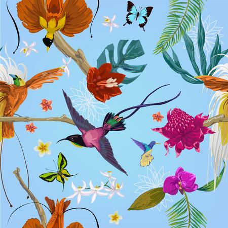 seamless exotic pattern Illustration