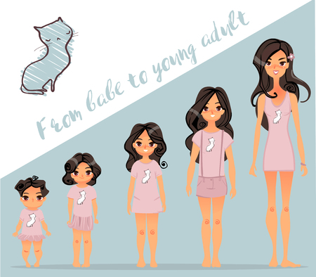 from babe to adult Illustration