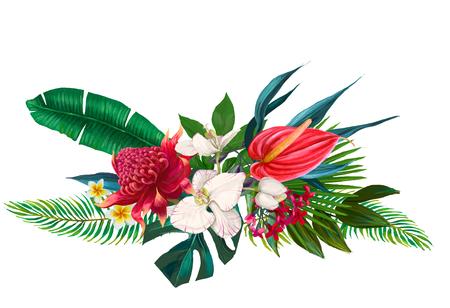 エキゾチックな花の組成