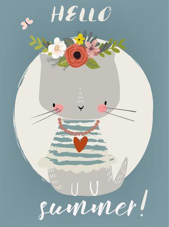 Summer Cute Kitten